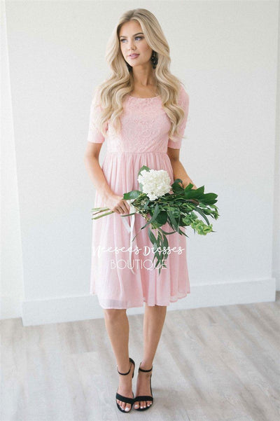 The Erika Modest Dresses vendor-unknown Blush Pink XS