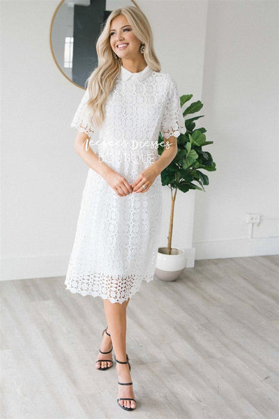 The Trinity Modest Dresses vendor-unknown White S