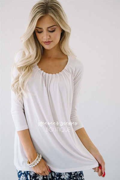 Cute with Pleats Blouse Tops vendor-unknown