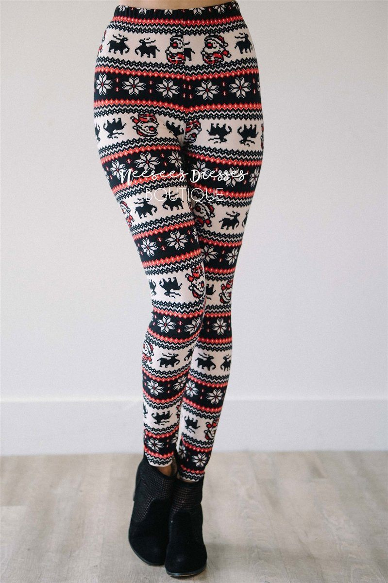 Here Comes Santa Clause Christmas Leggings