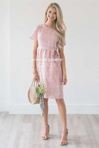 The Marta Modest Dresses vendor-unknown Dusty Pink S
