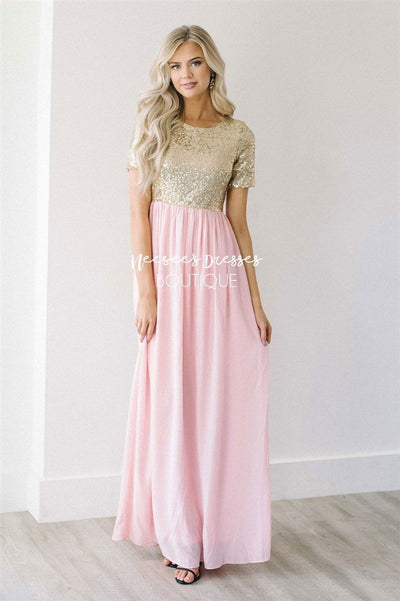 The Elsa in Whisper Pink Modest Dresses vendor-unknown