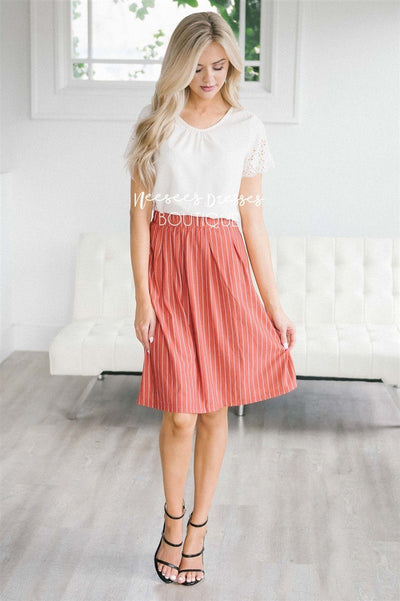 Striped Aline Skirt