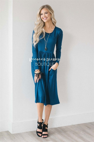 The Annabelle Modest Dresses vendor-unknown Deep Ocean Blue S