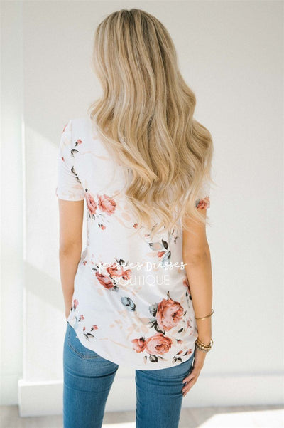 Ivory & Soft Mauve Cross Over Top