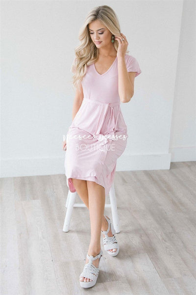 The Helen Modest Dresses vendor-unknown Blush Pink S