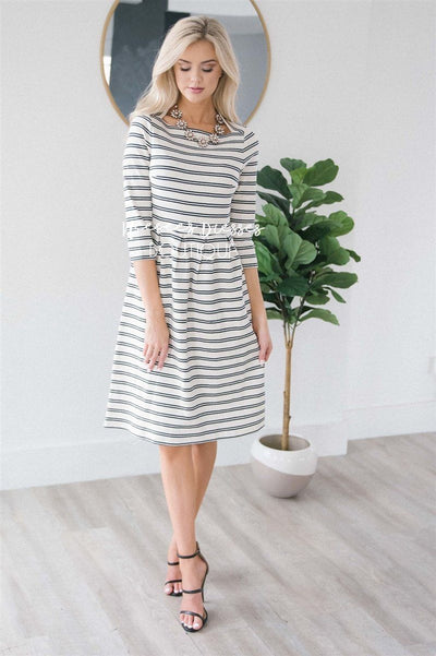 The Adele Modest Dresses vendor-unknown Navy XS