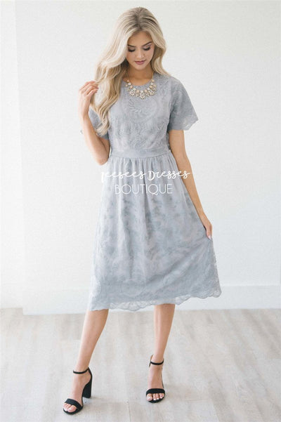 The Liana Modest Dresses vendor-unknown S Gray