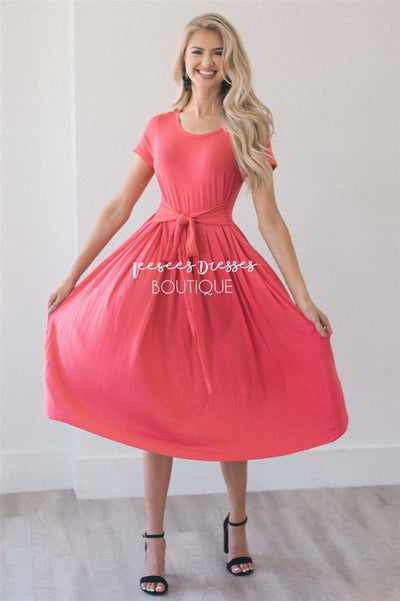 The Molly Modest Dresses vendor-unknown S Coral