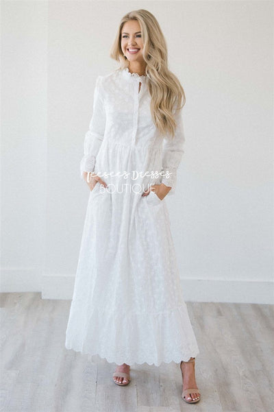 The Landyn Modest Dresses vendor-unknown White S