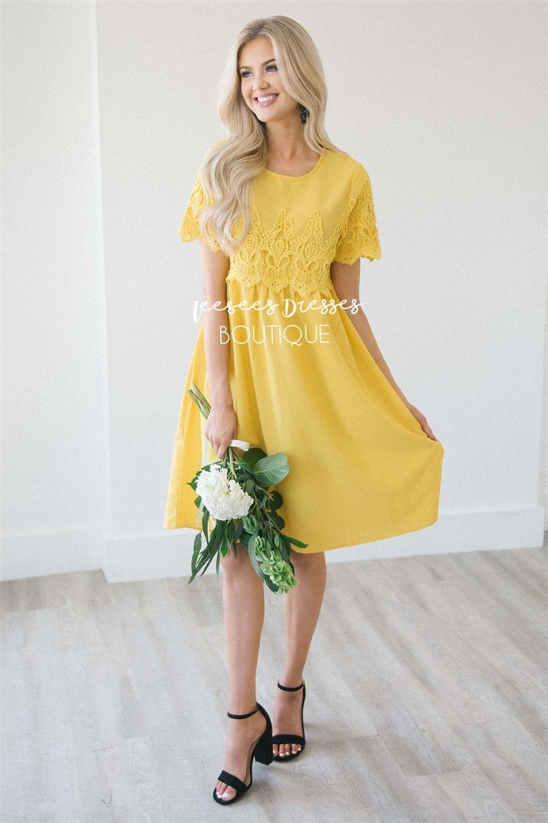 The Remy Modest Dresses vendor-unknown S Sunshine Yellow