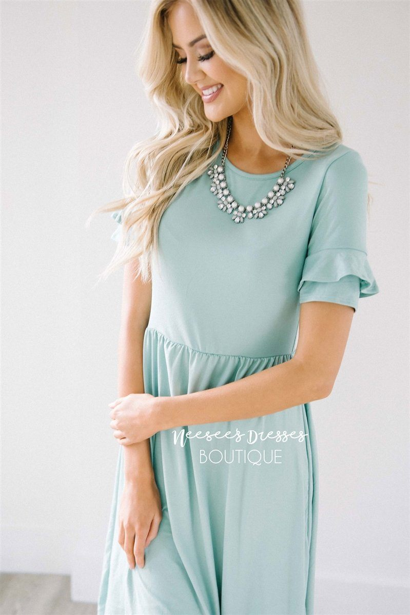 The Nessa Modest Dresses vendor-unknown Soft Mint XS