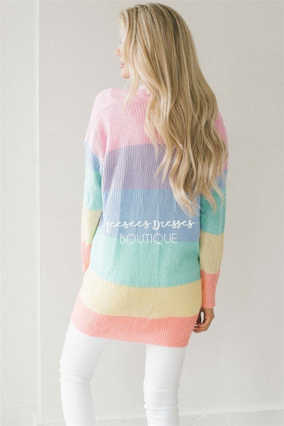 Cutie Color Block Cardigan Tops vendor-unknown