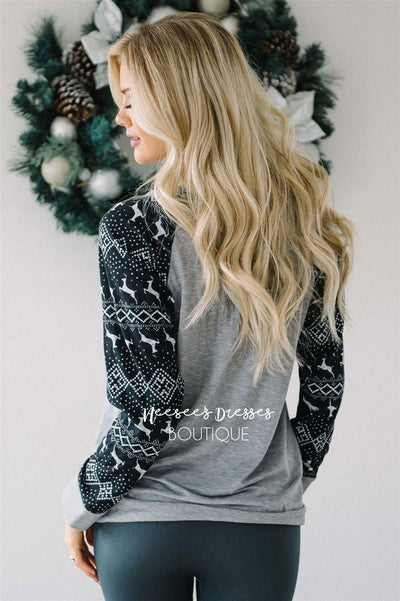 Baby It's Cold Outside Gray Sweater Tops vendor-unknown