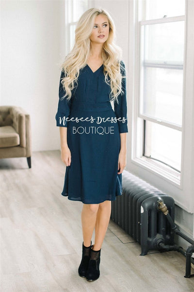 Ready for Spring Navy Dress Modest Dresses vendor-unknown Navy XS