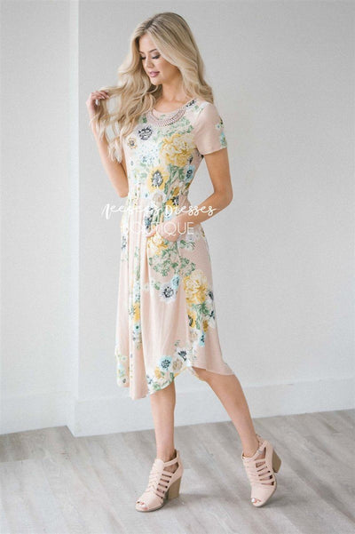 The Evelyn Modest Dresses vendor-unknown S Beige