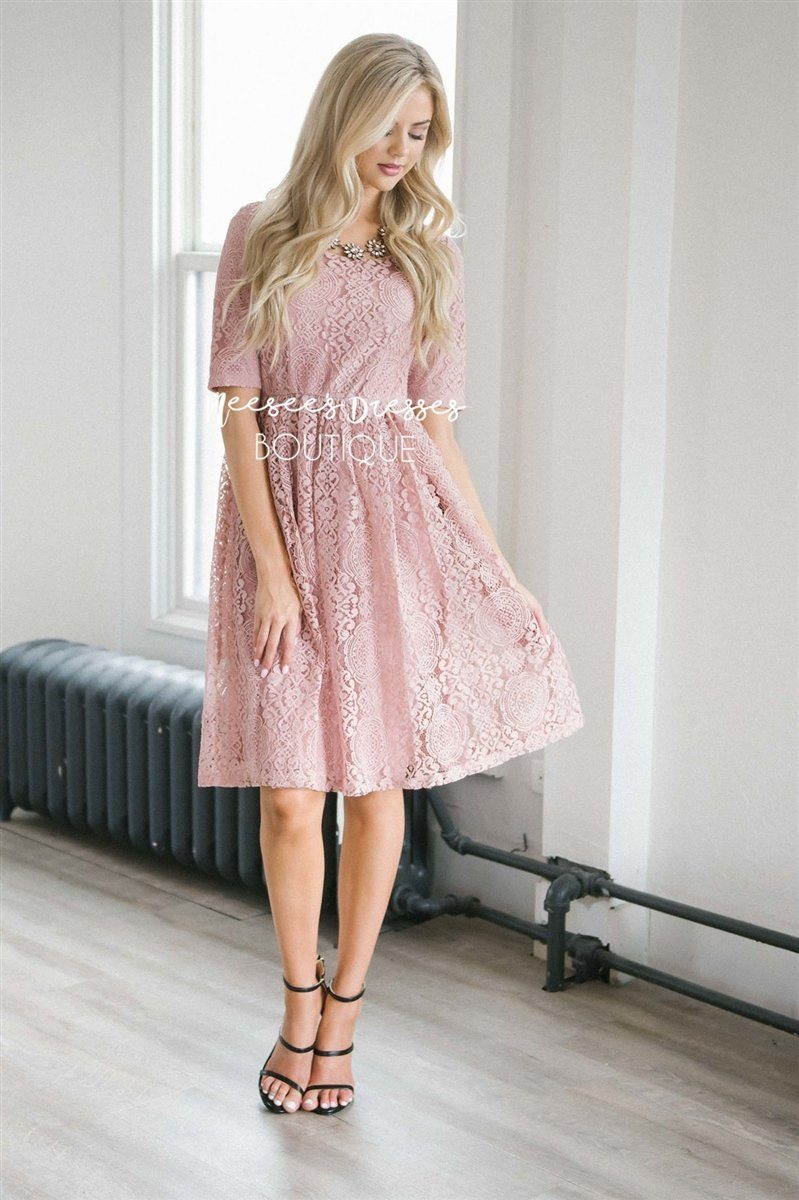The Erin Modest Dresses vendor-unknown Dusty Pink XS