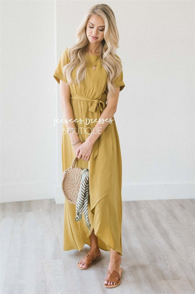 The Maleah Modest Dresses vendor-unknown Rustic Gold S