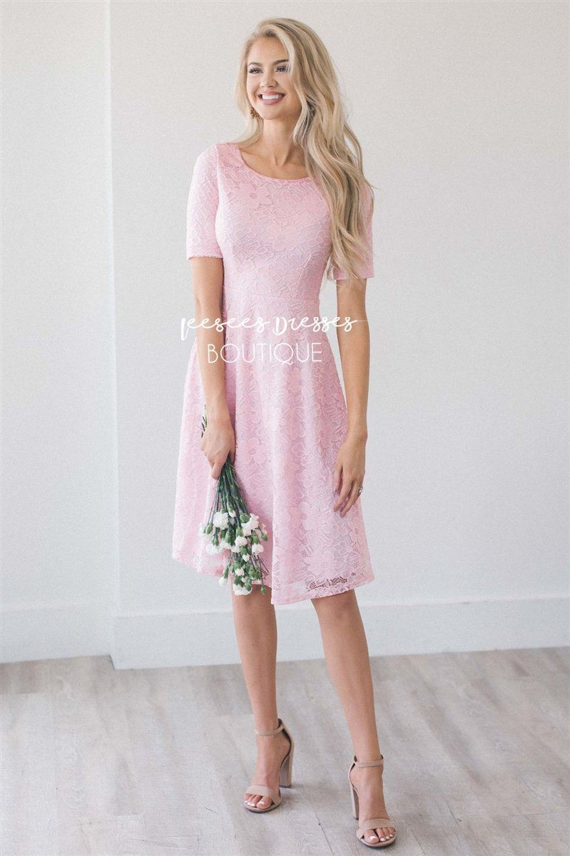 The Stella Modest Dresses vendor-unknown Flamingo Pink XS