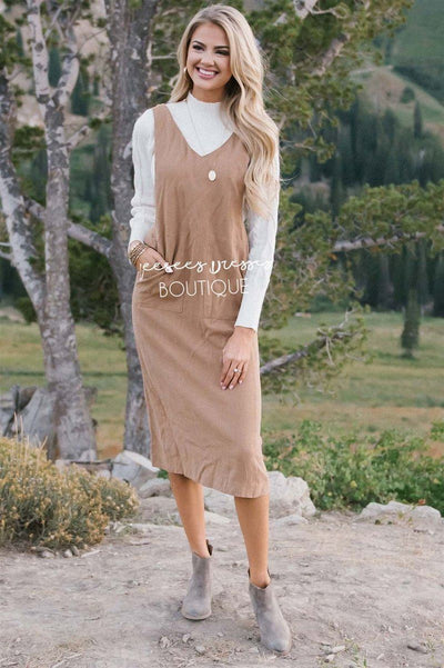 The Rachel Overall Dress Modest Dresses vendor-unknown