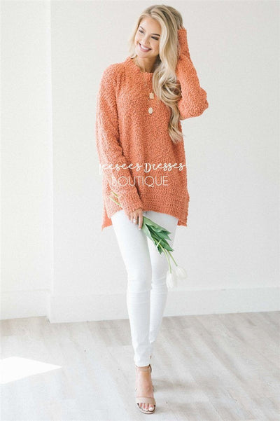 Cozy Fall Popcorn Pullover Sweater