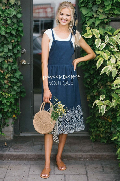 The Kalissa Overall Dress Modest Dresses vendor-unknown S Navy