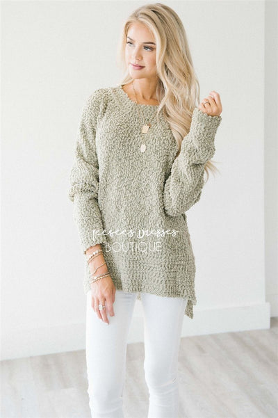 Cozy Fall Popcorn Pullover Round Neck Sweater