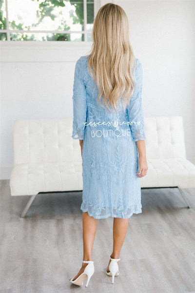 Day Dreamer Lace Dress in Arctic Blue Modest Dresses vendor-unknown