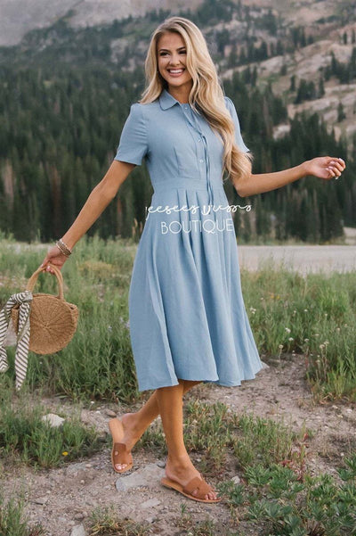 The Alexis Modest Dresses vendor-unknown S Light Blue