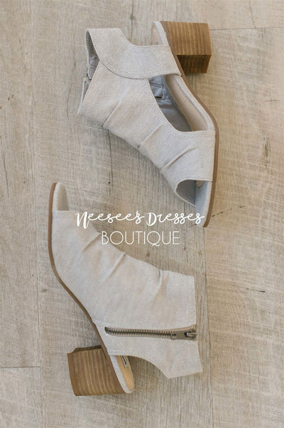 Anna Light Gray Canvas Sandals Accessories & Shoes vendor-unknown