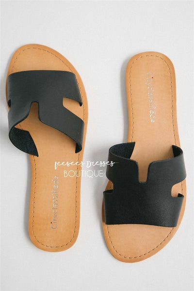 Cutout Slide Sandals Accessories & Shoes vendor-unknown Black 5.5