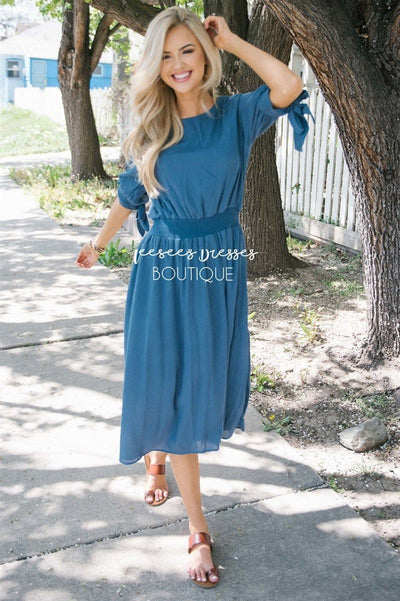 The Juliet Modest Dresses vendor-unknown S Slate Blue