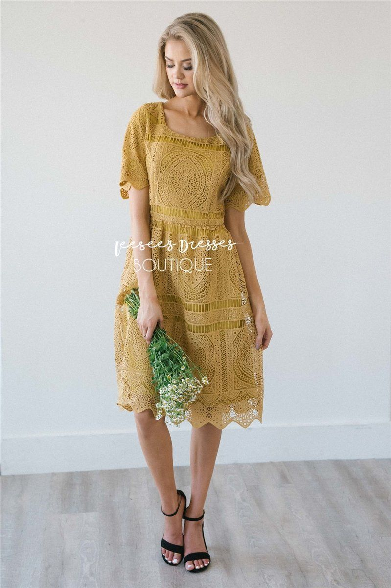 The Novalee Modest Dresses vendor-unknown Rustic Gold S