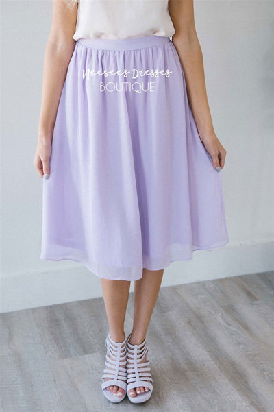 Lavender Chiffon Skirt Skirts vendor-unknown
