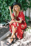 The Jasmine Modest Dresses vendor-unknown S Red Poppy Floral