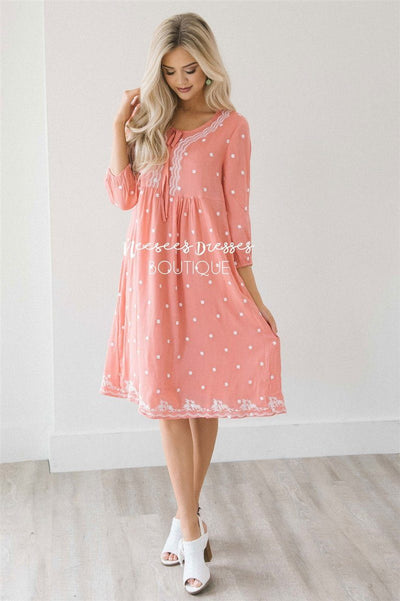 The Carla Modest Dresses vendor-unknown Coral S