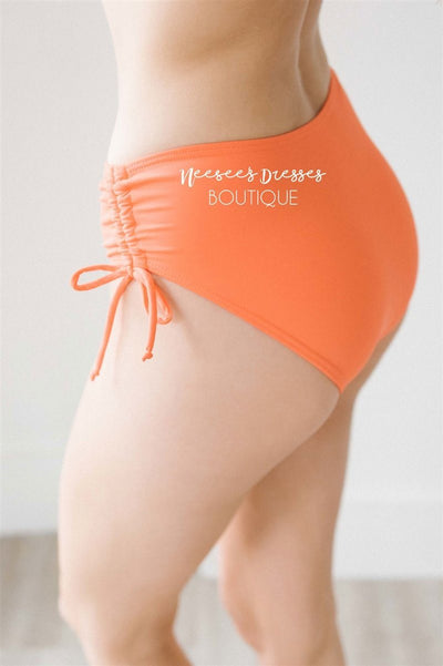 Tiki Hut Swim Bottoms Modest Swim vendor-unknown Tangerine XS