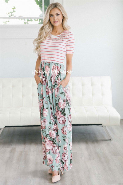 The Sasha Modest Dresses vendor-unknown S Mint Floral