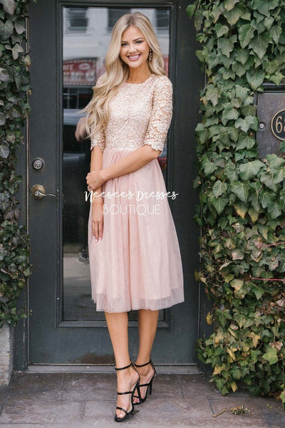 The Arabella Tulle Dress Modest Dresses vendor-unknown