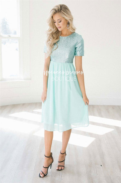 The Esmerelda Modest Dresses vendor-unknown Mint S
