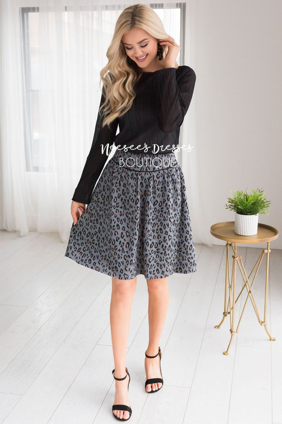 Beloved Leopard Print Skirt