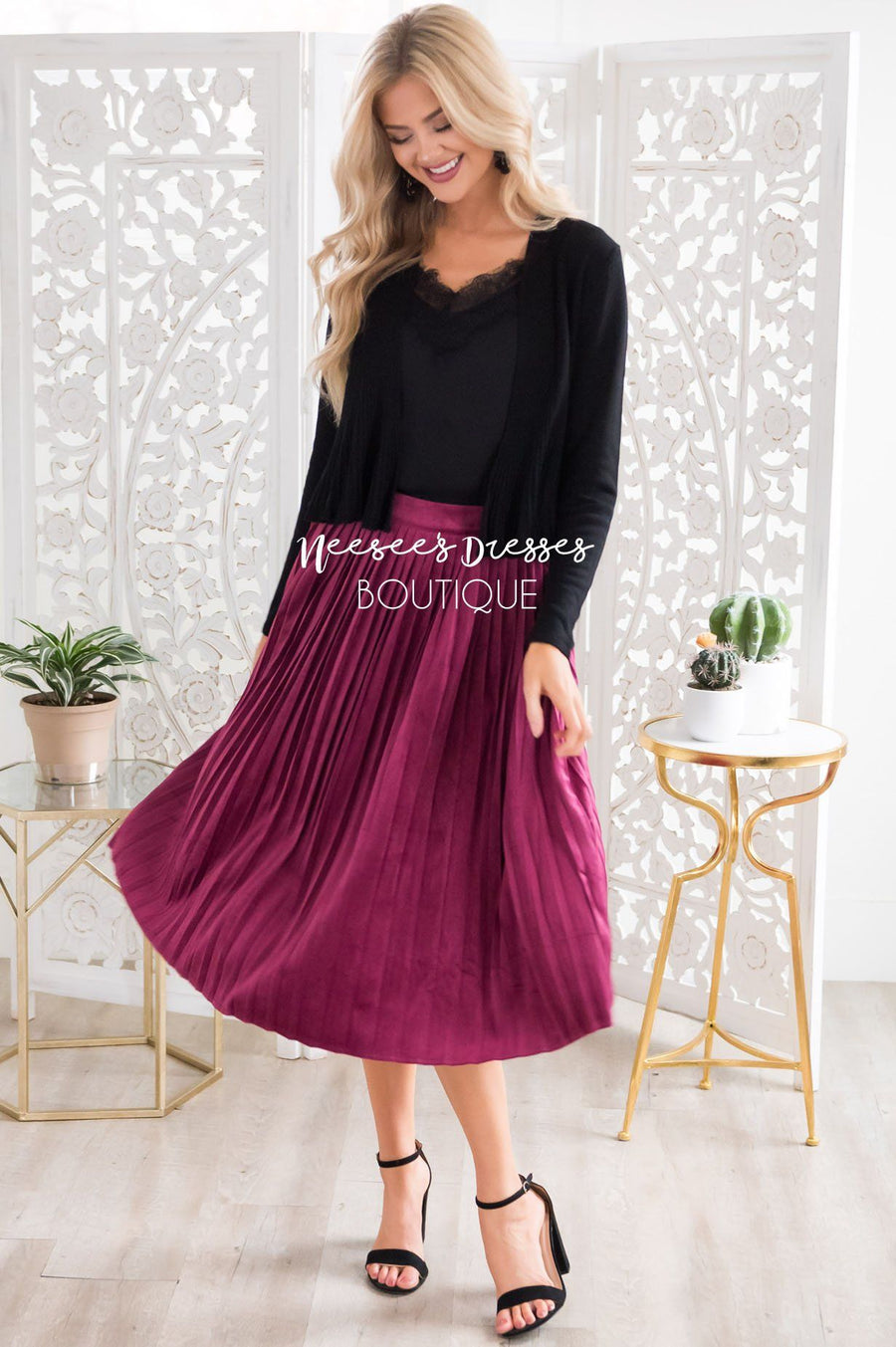 Better Together Velvet Skirt