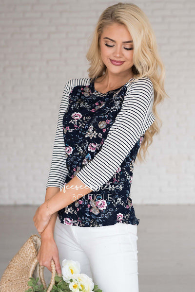 Among The Wildflowers Baseball Tee Modest Dresses vendor-unknown