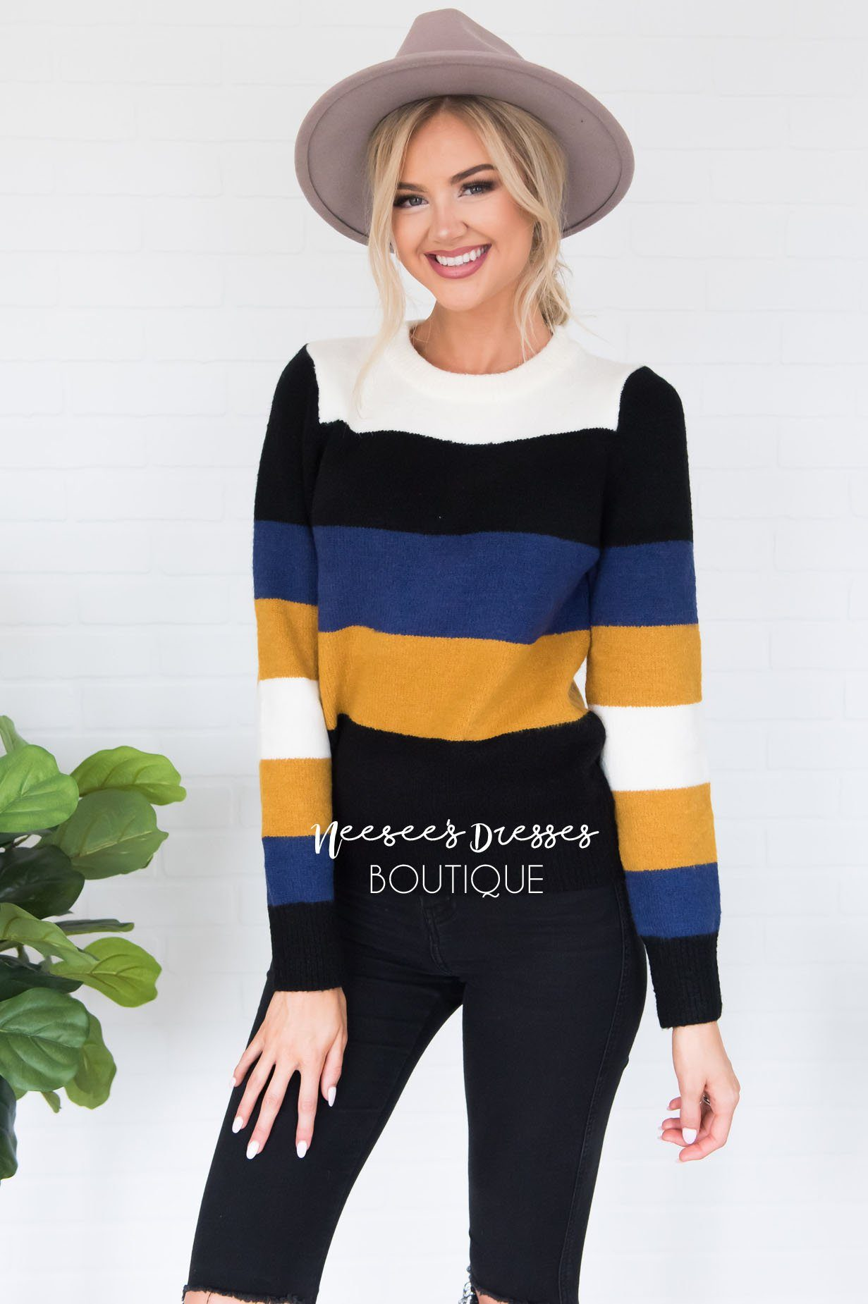 Stay Cozy Color Block Sweater