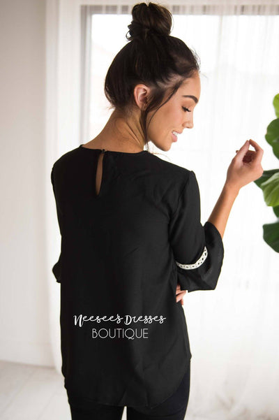 Stay Classy Bell Sleeve Top Modest Dresses vendor-unknown