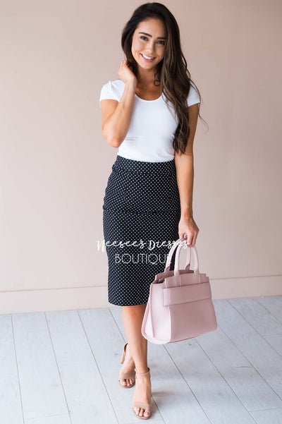 Secret Garden Textured Pencil Skirt Modest Dresses vendor-unknown