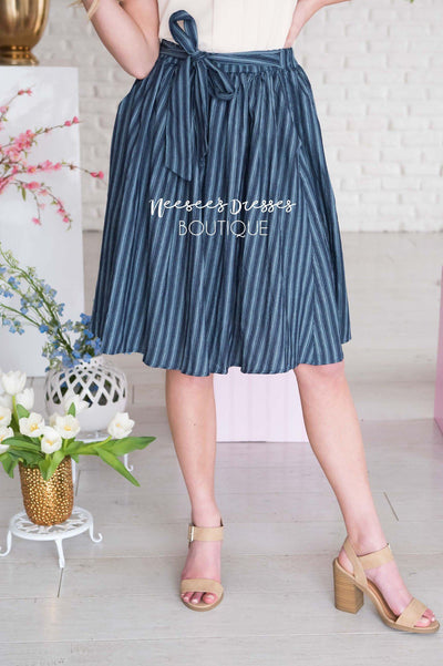 Be Humble Tie Waist Skirt Modest Dresses vendor-unknown