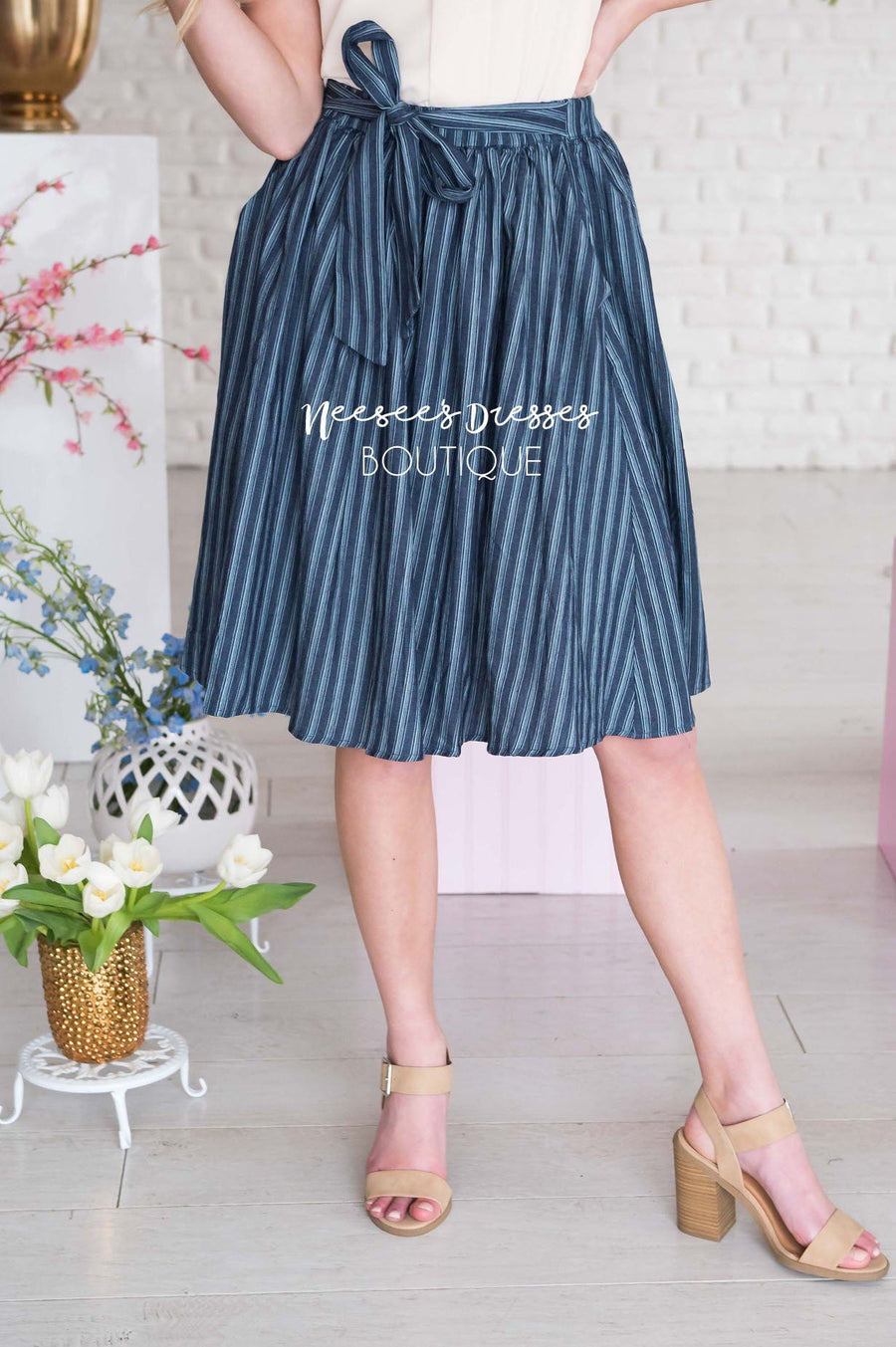 Be Humble Tie Waist Skirt