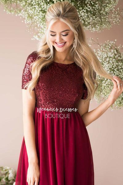 The Elsa in Burgundy Modest Dresses vendor-unknown