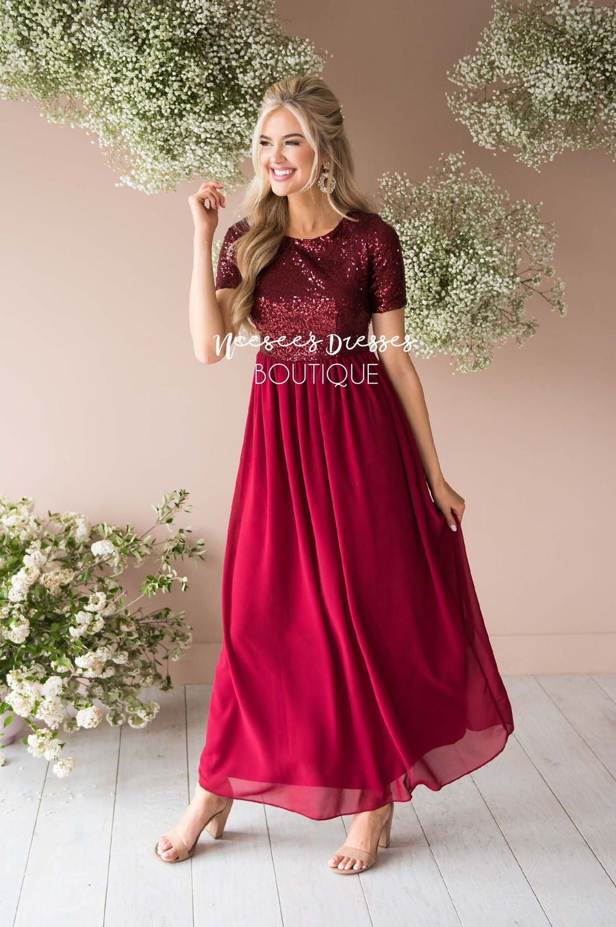 e34d755abe539 The Elsa in Burgundy Modest Dresses vendor-unknown